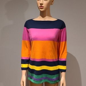 Ralph Lauren colorful striped sweater size M